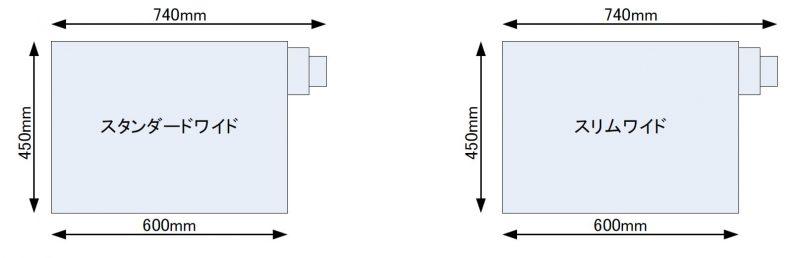 W600側面排気(正面図)