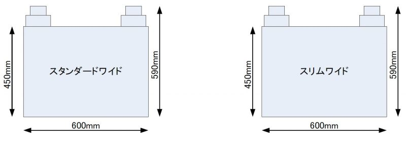 W600天面排気(正面図)