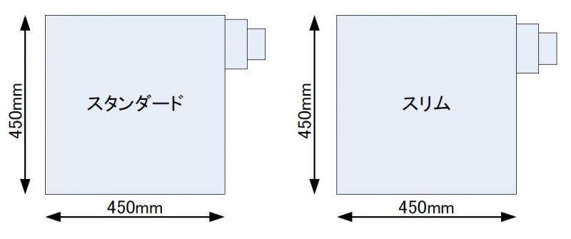側面排気(正面図)