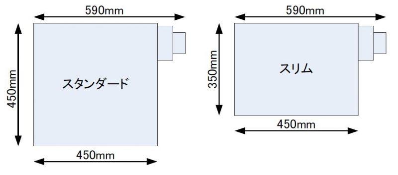 側面排気(上面図)