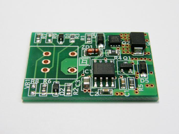 互換ブース新型PWMコントローラ低速運転域での静音性を向上しました。